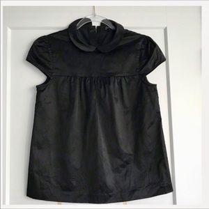 Theory Black Short Sleeve Top SZ 0